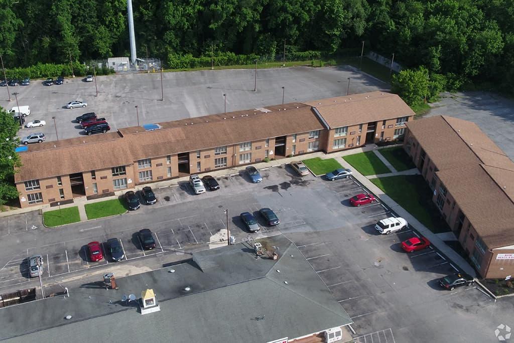 JSB Apartments Aerial view